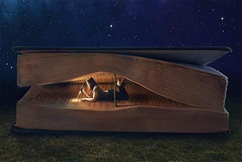 Houten puzzel 1000 stukjes,Educatief houten speelgoed voor volwassenen Childrenthe Girl Dark Lamp Book Reading Adult en childJigsaw Puzzle