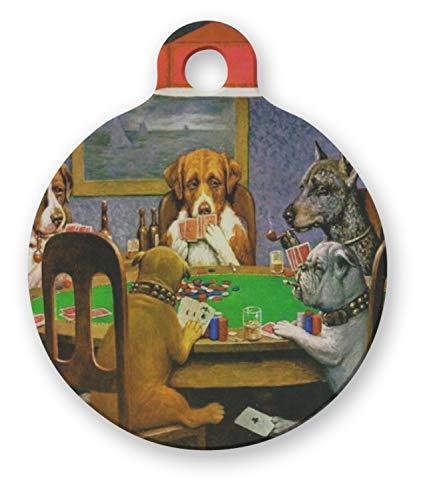 VinMea honden spelen Poker 1903 C.M.Coolidge ronde huisdier tag