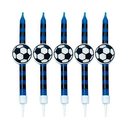 GIVI Itali 51198 Italia 5Candele palloni da Calcio con Supporti Nero/Bue, Multicolore
