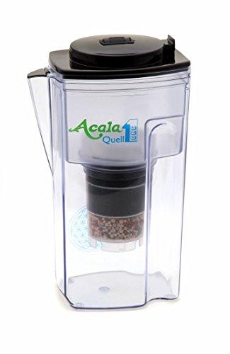 Wasserfilter AcalaQuell® One | Schwarz | Aktivkohle Wasserfilter | Höchste Filterleistung - mehrschichtig | BPA u. BPB frei | ReNaWa® - Technology | Kreiert köstlich schmeckendes, wohltuendes Wasser