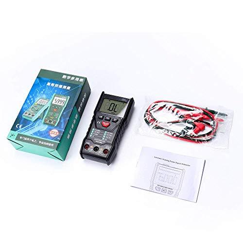 YELLAYBY Portátil NCV multímetro digital 6000 cuentas predefinidas medidor de voltaje DC AC luz del flash de luz de fondo de la pantalla grande Alta precisión
