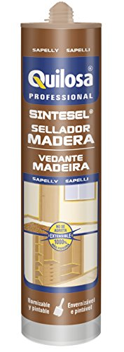 Quilosa Sintesel Madera - Sellador en base acuosa para juntas de madera, color sapelly