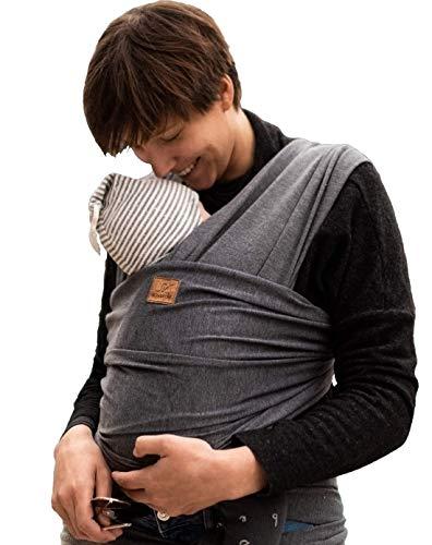 SOVERDE® Tragetuch Baby Extra Lang, Samtweich & Elastisch - Babytragetuch passend für jeden Körpertypen - Baby Sling - Tragetuch - Baby Wrap