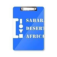 サハラ砂漠アフリカ フラットヘッドフォルダーライティングパッドテストA4