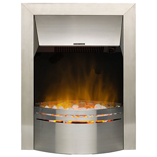 Dimplex DKT20 Dakota Electric Inset Fire with Optiflame Effect, 2 kW, 230 W, Stainless Steel