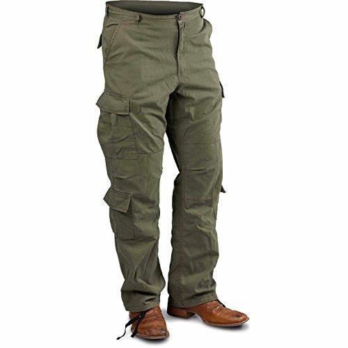 ロスコ (Rothco) ビンテージ パラトルーパー ファティーグパンツ US サイズ: XL カラー: グリーン