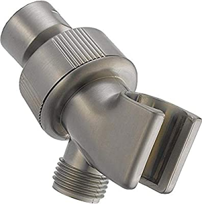 DELTA U3401-SS-PK Adjustable Shower Arm Mount, Stainless,0.5