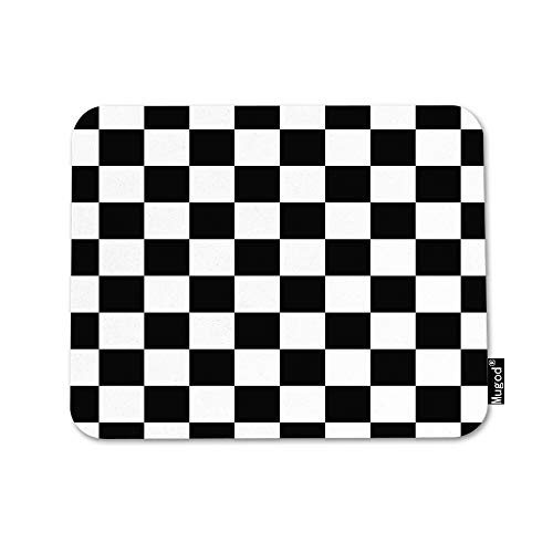 Mugod Checkerboard Mouse Pad Geometric Checkered Plaid Pattern Black and White Mouse Mat Non-Slip Rubber Base Mousepad for Computer Laptop PC Gaming Working Office & Home 9.5x7.9 Inch
