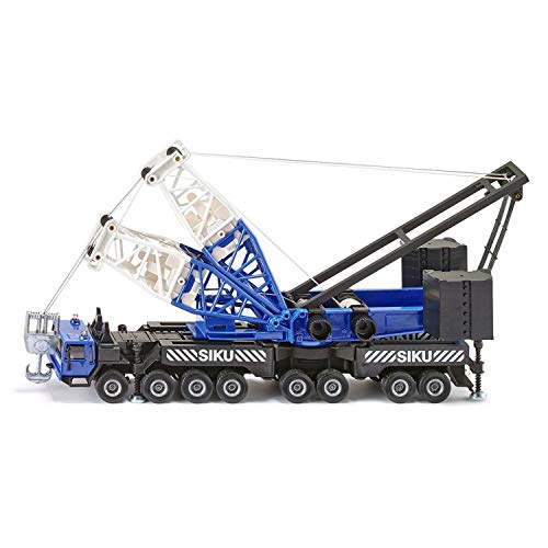 SIKU 4810, Mobilkran, 1:55, Zusammensteckbar, Metall/Kunststoff, Blau, Mit Seilwinde und Gewichten