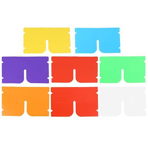 HEALLILY 14 Stücke Mundschutz Aufbewahrung Gesichtsschutz Aufbewahrungsbox Atemschutz Aufbewahrungsclip für Geldbörse Tasche(Gemischte Farbe)