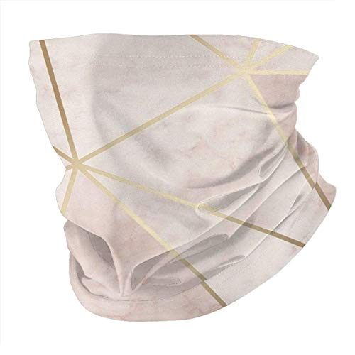 Jiayou J Unisex Variety Schal Zara Shimmer Metallic Soft Pink Gold Stirnbänder Bandana Magic Stirnband Elastic Seamless Balaclava Headwear Kopftuch