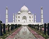 Pintura por Numeros, Pintar con Numeros Kits- Taj Mahal Cuadros para Pintar por Numeros Decoraciones para el Hogar - Sin Marco 40x50CM