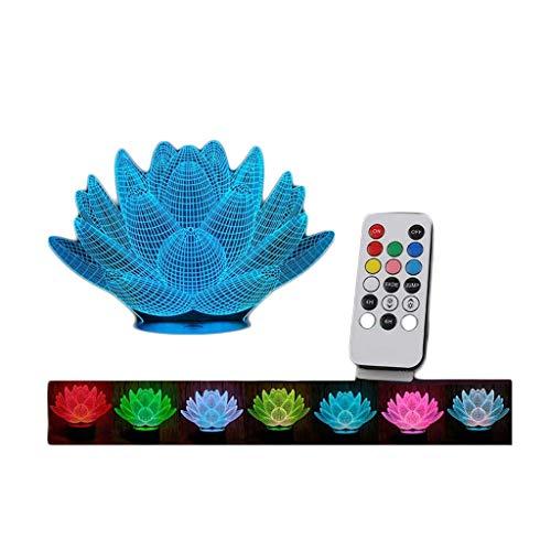 ZJX-F Lámpara de Mesa lámpara 3D acrílico Colorido led luz de Noche Control Remoto batería USB pequeña Mesa lámpara táctil Base