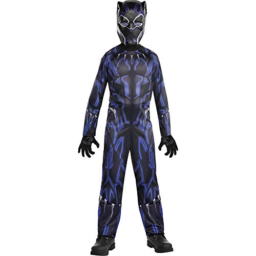 Party City Black Panther Halloween Costume for Boys, Avengers: Endgame, Small, Includes Jumpsuit and Mask