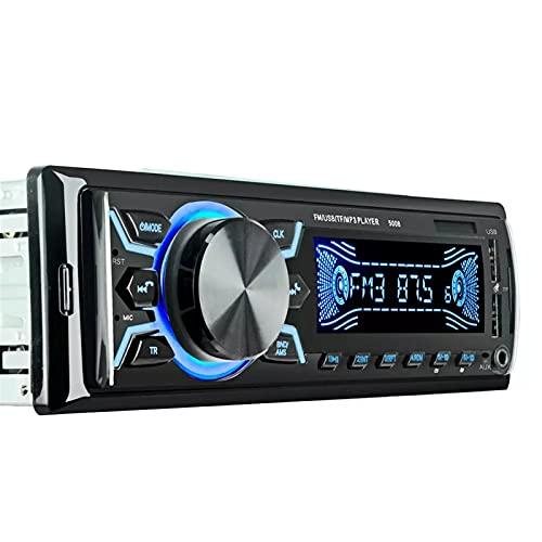 Radio De Automóvil, Llamada Con Manos Libres Bluetooth, Reproductor De MP3 Estéreo De Automóvil, APORTAR ENTRADA FM/USB/AUX, Efectos De Sonido De Alta Calidad, Control Remoto