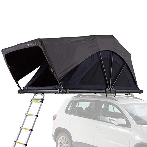 Qeedo Freedom Family Dachzelt für 3 Personen (182 x 142 x 39cm), klappbares Autodachzelt mit Softcover