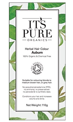It's Pure Organics Organic Hair Dye - Herbal Hair Colour Auburn by It's Pure Organics