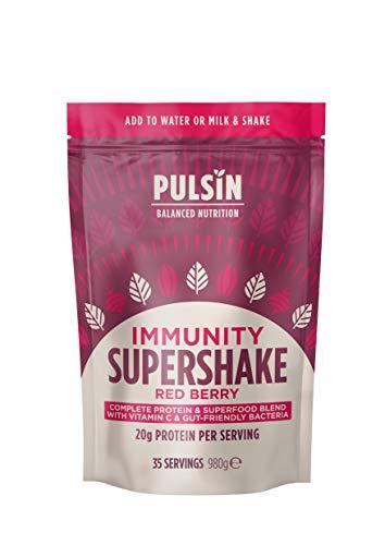 Pulsin Red Berry Blend Immunity Protein Super Shake