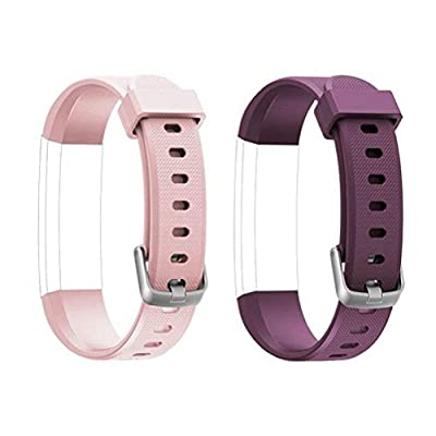 ToThere ID115U Replacement Straps - Adjustable Replacement Watch Bands Fitness Tracker ID115U, ID115U HR,NOT ID115Plus HR?Purple+Pink?