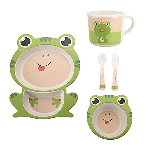 BOENTA Vajilla Infantil Vajilla Bebe Ventosa Placas de bebé con succión Placas de succión para bebés destete Niños Conjunto de Cena C
