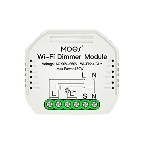 DIY Smart WiFi Light LED Dimmer Switch Smart Life/Tuya App Control Remoto (Blanco)