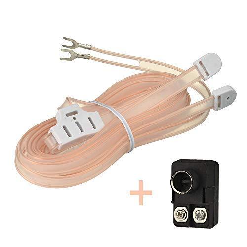 Bingfu Antenna FM Radio Interna Antenna T Formazione Cavo Plug Transformer Balun 75 300 ohm F Maschio Adattatore 2 kit per Migliorare la Ricezione Stereo FM