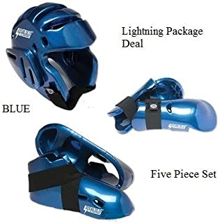 Lightning BLUE Karate Sparring Gear Package Deal - Child Medium