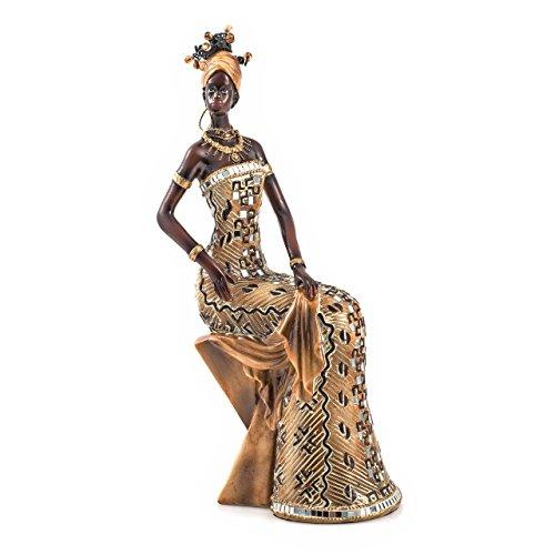 pajoma afrikanische Dekofigur \'\'Elfa\'\', sitzend, H 33 cm