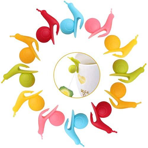 WENTS Segnabicchieri in Silicone per Feste Amanti del Vino Marcatore segnabicchieri in Silicone per Tazze Bicchieri a Forma di Lumaca Colorati 24pcs