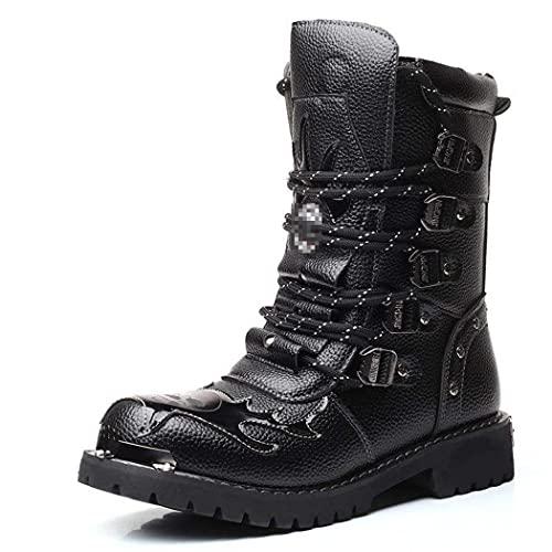 LIOPJH Hombres Escalada Trekking Caza Caminar Botas, Táctico Militar Soldado Botas, Al Aire Libre Camo Montaña Zapatos De Senderismo