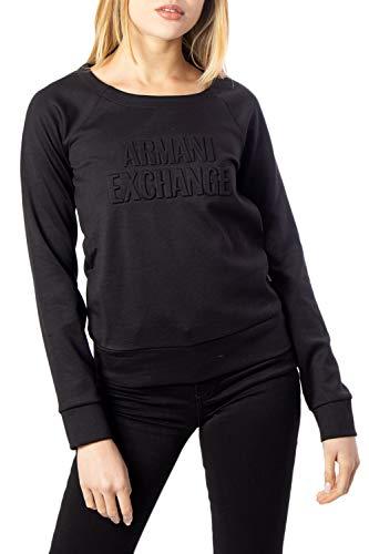 Armani Exchange Double Knit, Side Logo Sudadera, Negro (Black 1200), X-Large para Mujer