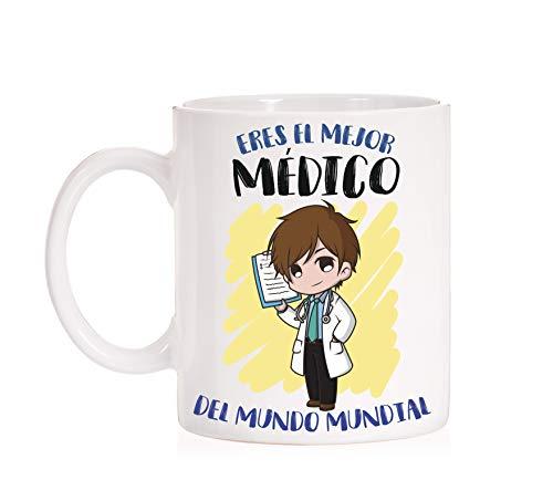 FUNNY CUP Taza Eres el Mejor Médico del Mundo Mundial. Taza Divertida de Regalo (Médico)