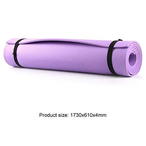 XCC Yoga-Matten-1830 * 610 * 6mm Eva Anti-Rutsch-Teppich Pilates Gym Sport Übung Pads für Anfänger Fitness Umweltgymnastikmatten Isomatte für Camping, Wandern, Reisen Strand,lila 4mm