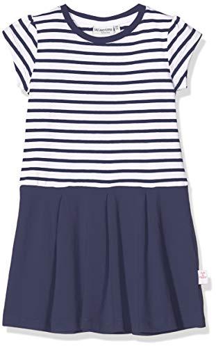 Salt & Pepper Mädchen 03113233 Kleid, Blau (Navy 498), 128 (Herstellergröße: 128/134)