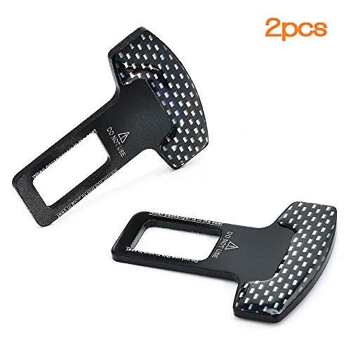 DOLKSN Seat Belt Extension Car Buckles-Universal Fit for 7//8Metal Tongue 2 Pack Black