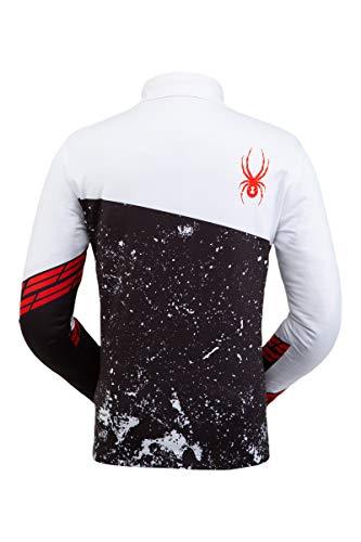 Spyder Mandate Herren-Oberteil, langärmlig, mit T-Halsausschnitt und Reißverschluss, Sport-Shirt, Herren, Mandate Zip T-Neck, weiß, X-Large