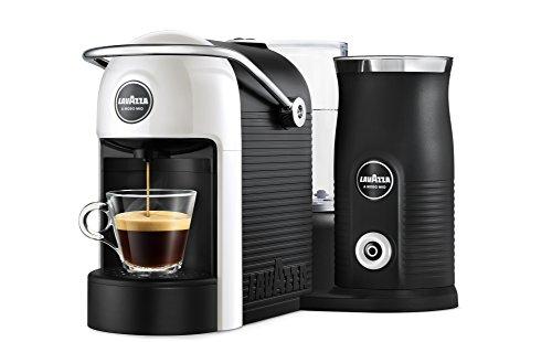 Lavazza A Modo Mio Jolie&Milk Latte Kaffeekapselmaschine (mit Milchschäumer) weiß