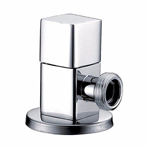 Vollkupfer Eckventil Eckventil Wasserstopventil WC-Eckventil Warmwasserbereiter Eckventil Wasserhahn Eckventil heiß kalt Universal-Vierpunkt-Schnittstelle eins zu einem Eckventil 8.6 x 6,5 x 2,2 cm