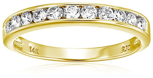 1/2 cttw Classic Diamond Wedding Band in 14K Yellow Gold Channel Set Size 7