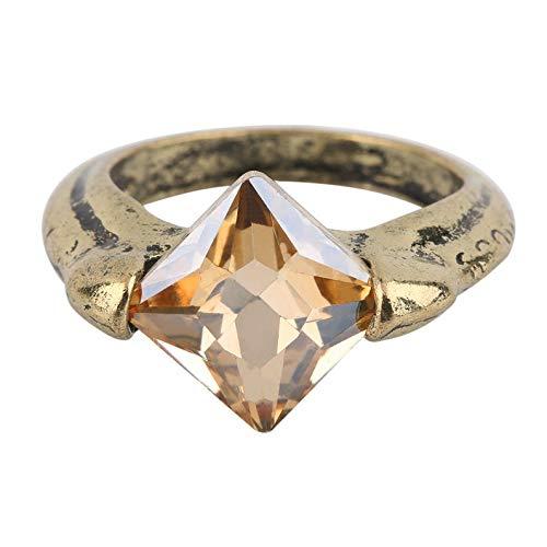 deYukiko Cool Horcruxes Auferstehungsstein Retro Bronze Kristall Ring Vintage Bronze