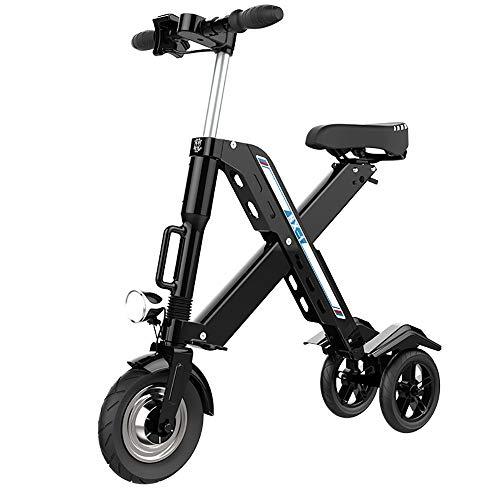 QYSHH Bicicleta Eléctrica Plegable E-Bike Patinete Eléctrico Mini Bicicleta Eléctrica Estructura de Aleación de Aluminio Batería de Litio Bicicleta al Adulto Ciudad 25 Km/h