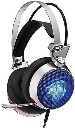 Auricolari Da Gioco Stereo 7.1 Gaming Auricolari Per Cuffie Surround Virtuali Con Microfono Luce A LED Per Computer PC Gamer (Color : N43) - Trova i prezzi più bassi