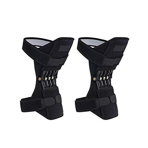 Bolange Rodillera elástica, transpirable, duradera, almohadilla de apoyo deportivo, protección para las articulaciones, refuerzo de la rodilla, de aleación, color negro