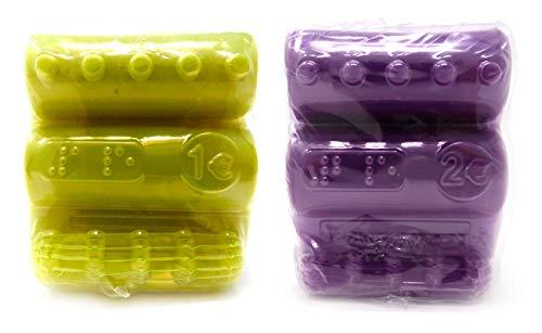 Blisters de Plástico Pack 600 Cartuchos para Monedas de 1 Euro y 2 Euros