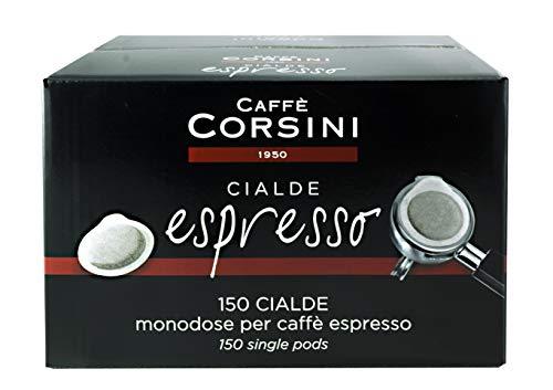 Caffè Corsini Caffè Macinato Espresso in Cialde in Carta ESE, Gusto Forte e Intenso, Confezione da 150 Cialde ESE
