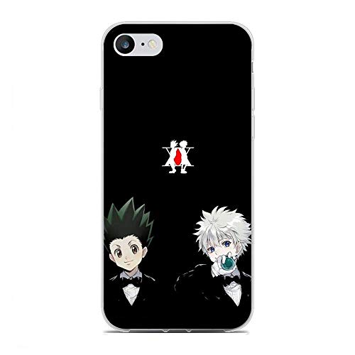 AriumClutch Soft Clear Coque Transparent Thin Rubber Shockproof Back Cover Case For Apple iPhone 6/6s-HUNTER¡ÁHUNTER Anime 7