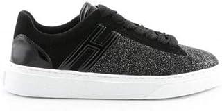 Luxury Fashion | Hogan Women HXW3650J971LKI0ZHC Black Glitter Sneakers | Season Permanent