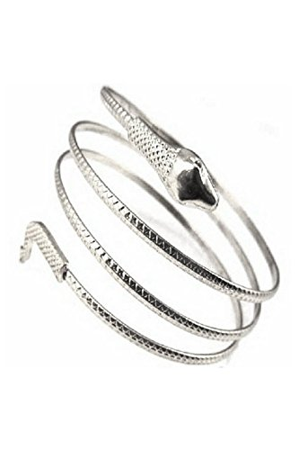 CUHAWUDBA Fashion gewickelt Schlange spiralfoermig Oberarm Stulpe Armband Armreif Golden