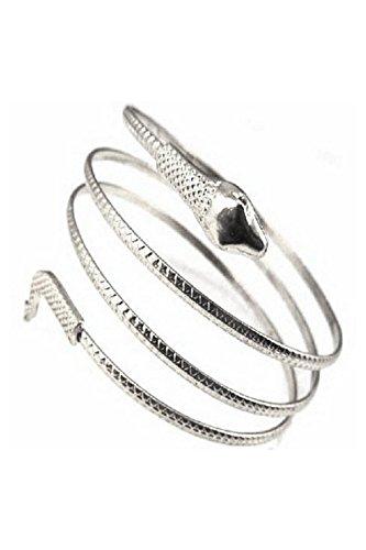 REFURBISHHOUSE Fashion gewickelt Schlange spiralfoermig Oberarm Stulpe Armband Armreif Golden