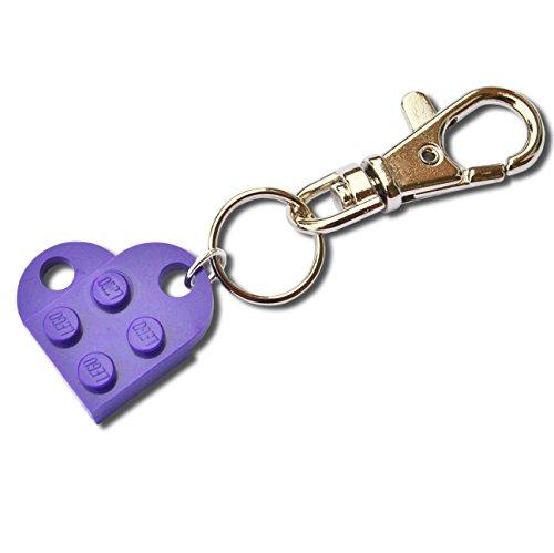 SJP - Gemelos con forma de corazón hecho a mano con placas Lego® (mo
